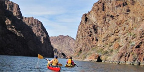 Two kayakers in Black Canyon, Colorado