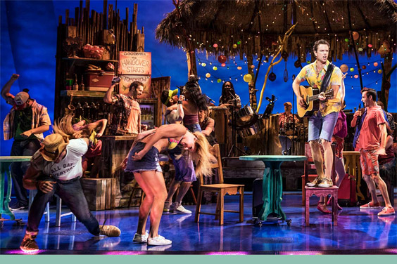 UC San Diego / La Jolla Playhouse stage with cast of Escape to Margaritaville