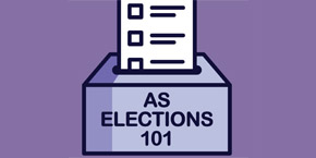 UC San Diego - AS ELECTIONS 101 - text graphic illustration