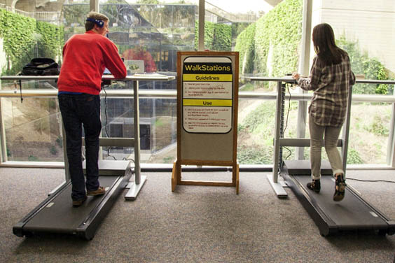 UC San Diego - Geisel Library - walk stations - student destressing zone