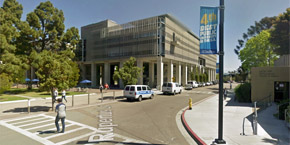 UC San Diego - street view of Rupertus Lane and Myers Drive intersection