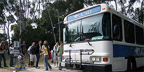 UC San Diego shuttle bus
