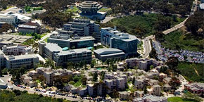 UC San Diego campus aerial view