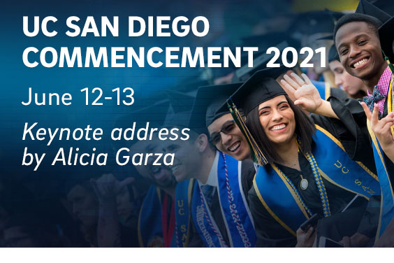 UC San Diego - commencement 2021 - portrait of speaker Alicia Garza