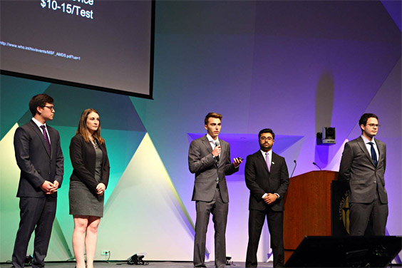 UC San Diego student and alumni presenters at Global Grand Challenges Summit; Photos: National Academy of Engineering