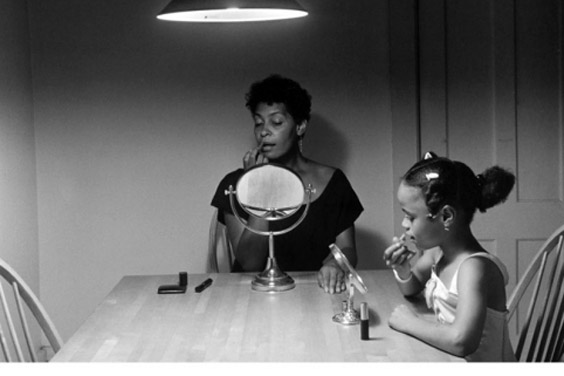 Carrie Ann Weems black-and-white photograph from her Kitchen Table series - UC San Diego - UAG exhibit - January thru March 2018