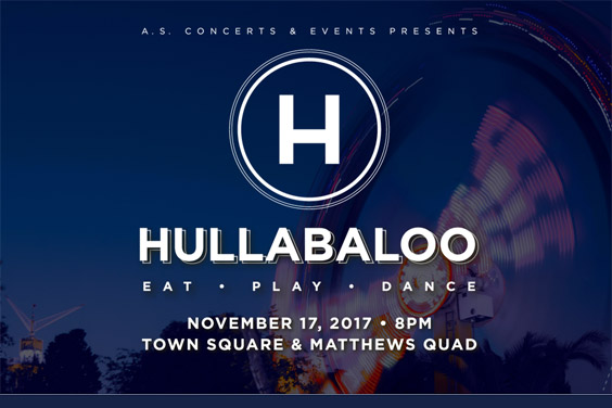 UC San Diego - Hullaballoo Festival illustration-text with carnival ride in background