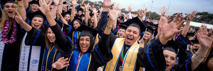 UC San Diego graduates celebrate, June 2015
