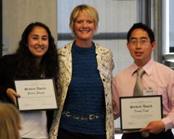2012 Academic Integrity Student Award winner