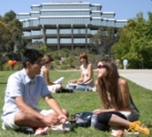 Students on lawn