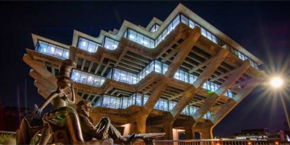 UC San Diego / Geisel Library at night