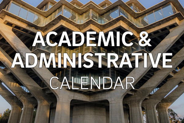 Academic and Administrative Calendar 2020–2021
