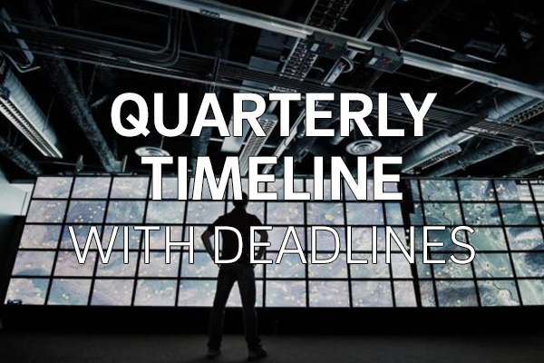 Quarterly Timeline with Deadlines