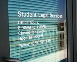 Student Legal Services office in the Student Services Center
