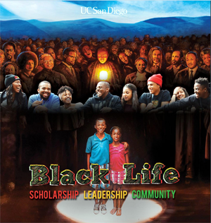 Black Life publication - cover and mural image