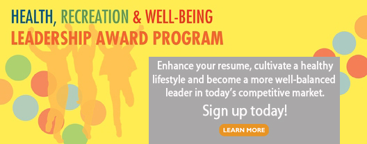 Health, Recreation & Well-Being Leadership Award Program image