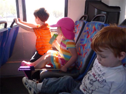 Children on Shuttle
