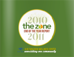 The Zone annual report cover